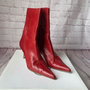 Steve Madden Chicago Red Heeled Boots Size 7.5